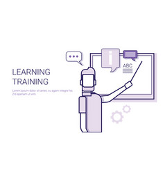 learing training online education business concept vector image