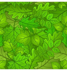 Leaves of plants seamless summer vector image