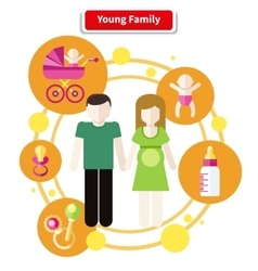 Lovely Young Family Concept vector image