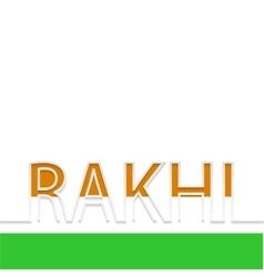 Modern rakhi background indian holiday vector