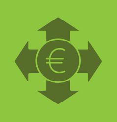 money spending glyph color icon vector image
