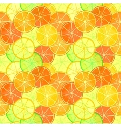 Orange and lime slices seamless pattern vector