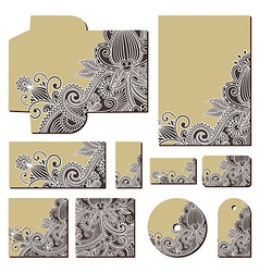 ornate floral business style templates vector image