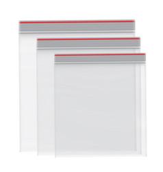 packaging set ziplock empty vector image