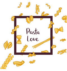 pasta types vector image