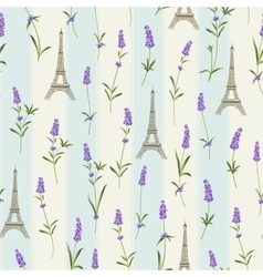Pattern with lavender flowers vector