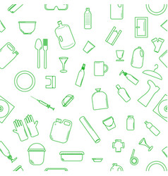 Plastic recyclable items vector