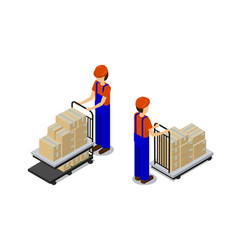 Production line workers set vector