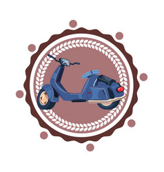 retro sccoter motorcycle isolated icon vintage vector image