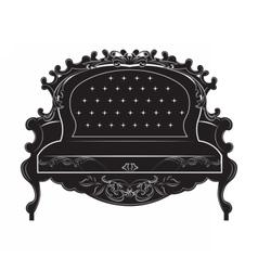 Rich baroque sofa vector