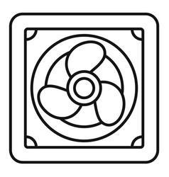 Rotor blade fan icon outline style vector