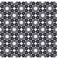 Round Geometric Seamless Pattern vector image