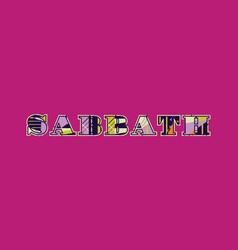 Sabbath concept word art vector
