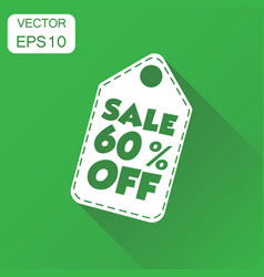 sale 60 off hang tag icon business concept sale vector image