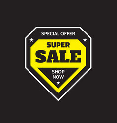 sale badge design special offer concept banner on vector image