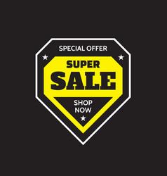 sale badge design special offer concept banner on vector image