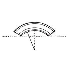 Segmental arch architecture vintage engraving vector