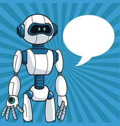 Smart robot futuristic technology bubble speech vector