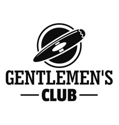 smoking gentlemen club logo simple style vector image