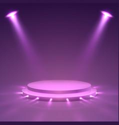 Stage podium ceremony presentation pedestal vector
