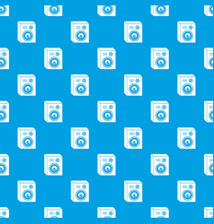 studio speakers pattern seamless blue vector image