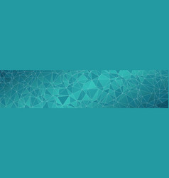 Tech wide banner conception triangles shapes vector