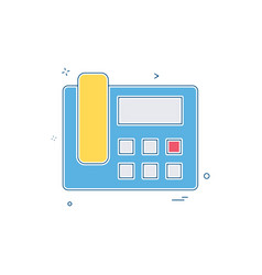 telephone sound voice icon design vector image