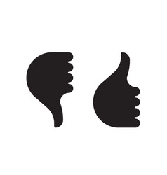 Thumb up down hand icon vector