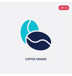 two color coffee grains icon from culture concept vector image