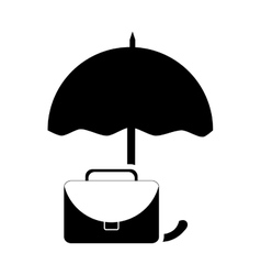 Umbrella and briefcase icon vector