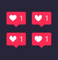 web heart icon notification vector image