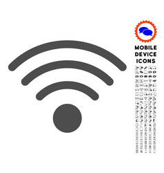 wi-fi source icon with set vector image