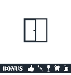 Window icon flat vector