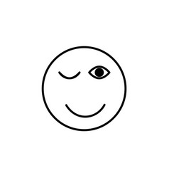 wink emoticon vector image