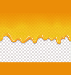 yellow drips seamless background vector image