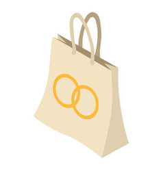 bag icon isometric style vector image vector image