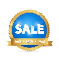 Blue Gold Sale Sticker vector image vector image