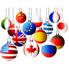 Christmas international balls vector image vector image