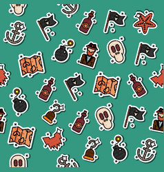 colored piracy pattern vector image