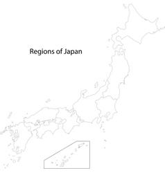 Contour Japan map vector image vector image