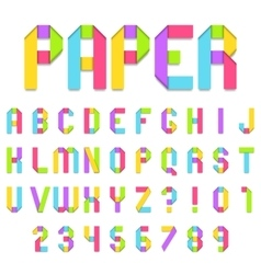 Folded Color Paper Font vector image vector image