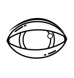 line human eye to optical vision icon vector image vector image