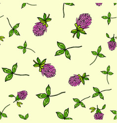 seamless pattern with red clover vector image vector image