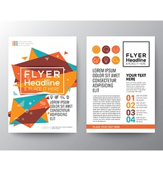 Abstract Triangle shape Flyer design vector image vector image