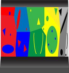 Artificial rock vector image vector image
