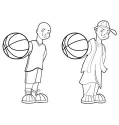 Basketball Teen vector image vector image