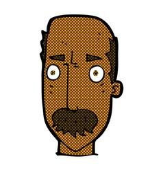 comic cartoon annoyed old man vector image vector image