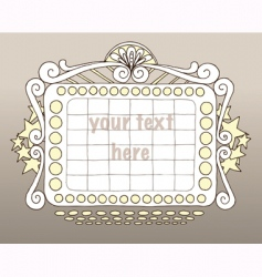 doodle marquee vector image vector image