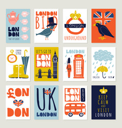 london posters and banners set vector image