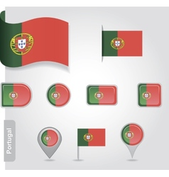 Portugal flag icon vector image vector image